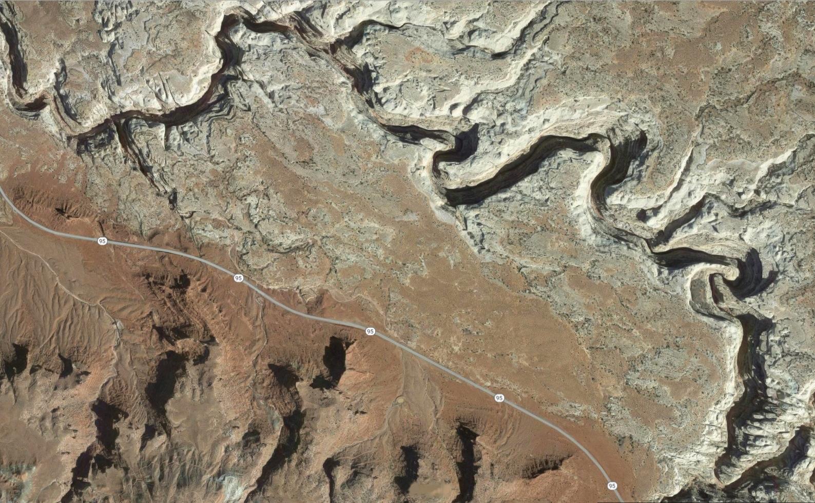 The Black Hole of White Canyon Map, Utah - MountainZone