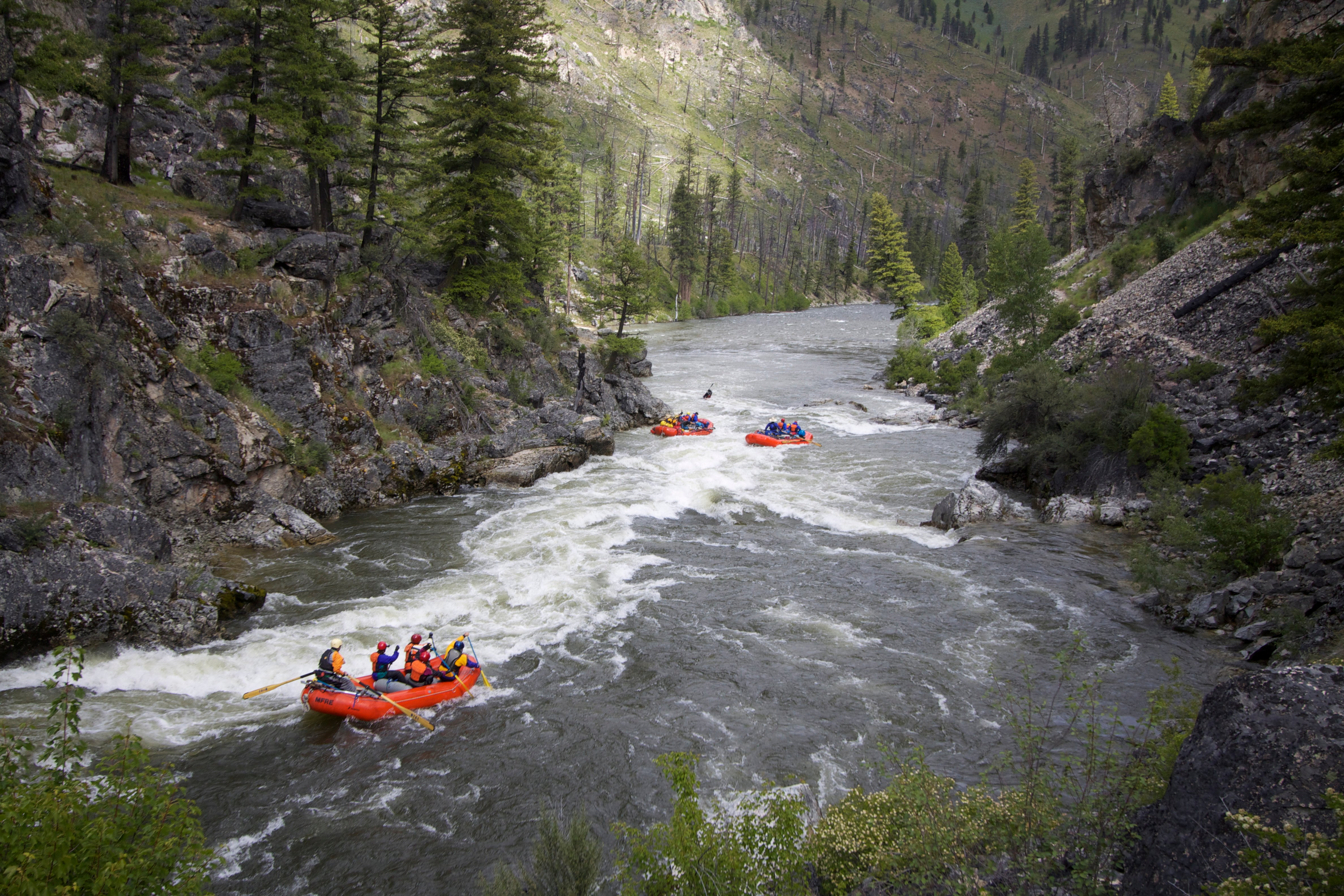 Rafting The Middle Fork Of The Salmon River In Idaho