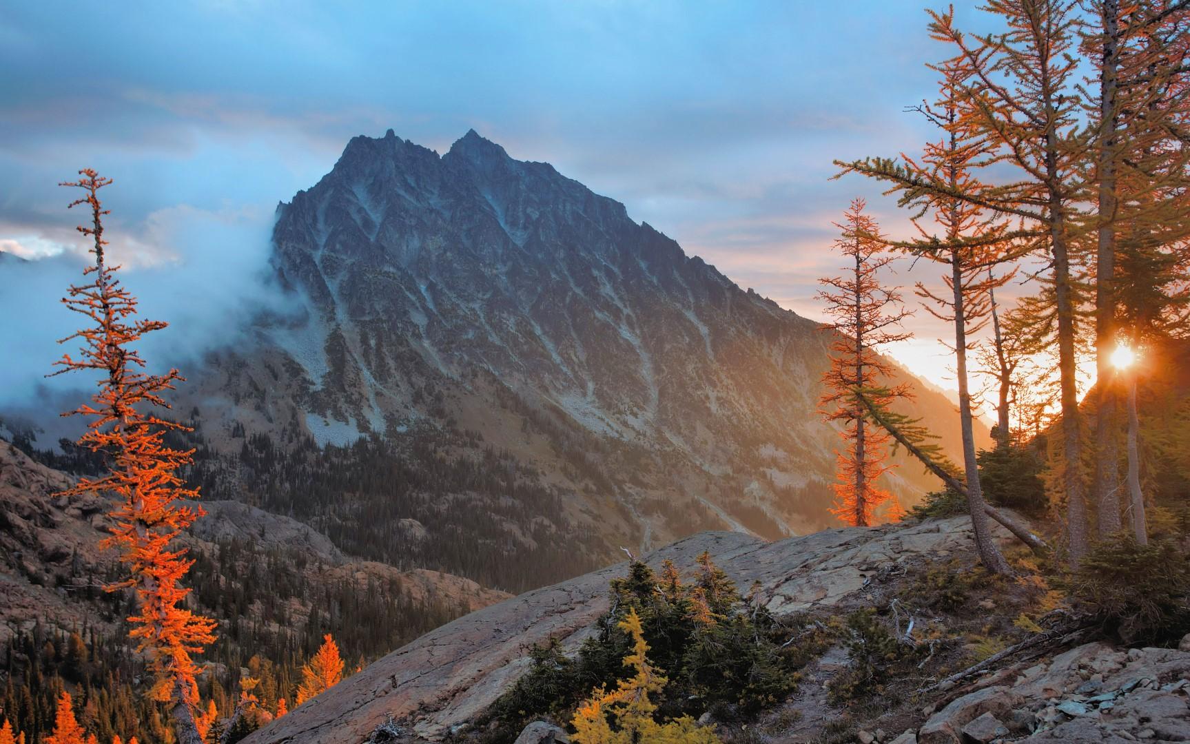 Stuart Range And The Enchantments Map Wa Mountainzone